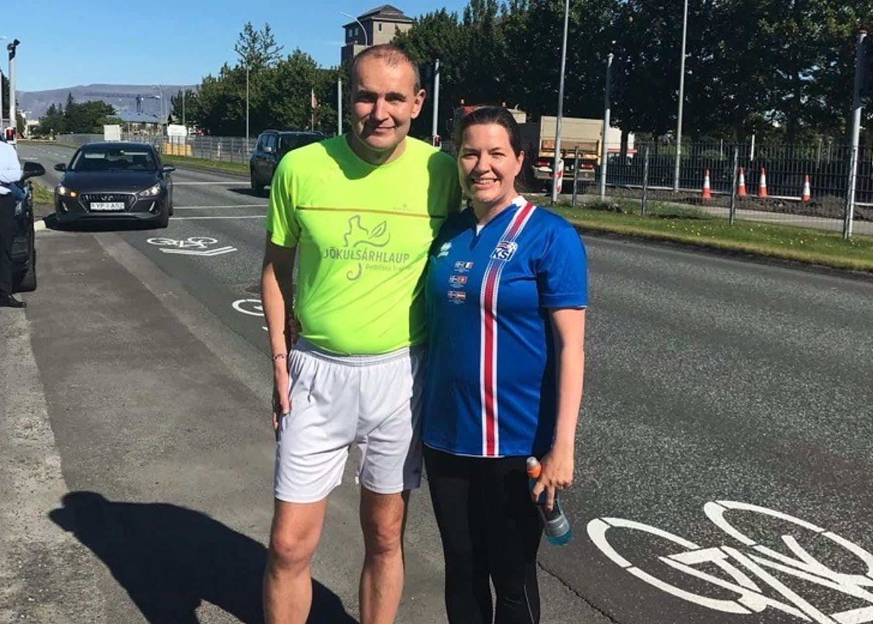 The Icelandic president ran for charity
